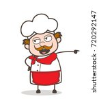 cartoon angry chef shouting... | Shutterstock .eps vector #720292147