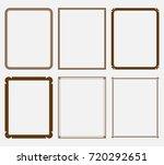 vector vintage calligraphic... | Shutterstock .eps vector #720292651