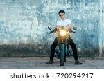 handsome young men with black... | Shutterstock . vector #720294217