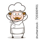 cartoon chef surprised face... | Shutterstock .eps vector #720300901