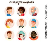 people characters avatars set... | Shutterstock .eps vector #720304651