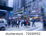people rushing on the street in ... | Shutterstock . vector #72030952
