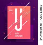 cool abstract alphabet poster... | Shutterstock .eps vector #720312889