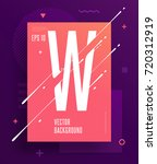 cool abstract alphabet poster... | Shutterstock .eps vector #720312919