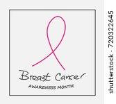 breast cancer awareness month... | Shutterstock .eps vector #720322645