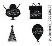 birthday vector logo design...   Shutterstock .eps vector #720328174