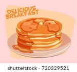pancakes with maple maple syrup | Shutterstock .eps vector #720329521