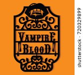 paper cut silhouette halloween... | Shutterstock .eps vector #720329899