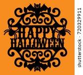 paper cut silhouette happy...   Shutterstock .eps vector #720329911