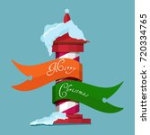 christmas holiday greetings on... | Shutterstock . vector #720334765