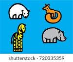 animal mix logo isolated vector | Shutterstock .eps vector #720335359