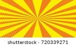 empty comic cartoon sunbeam... | Shutterstock .eps vector #720339271
