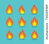 flat flame various elements... | Shutterstock .eps vector #720339589
