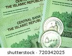 close up iranian banknote and... | Shutterstock . vector #720342025