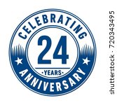 24 years anniversary logo.... | Shutterstock .eps vector #720343495