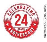 24 years anniversary logo.... | Shutterstock .eps vector #720343501