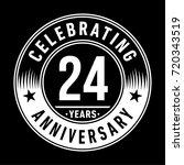 24 years anniversary logo.... | Shutterstock .eps vector #720343519