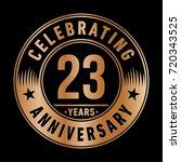 23 years anniversary logo.... | Shutterstock .eps vector #720343525