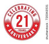21 years anniversary logo.... | Shutterstock .eps vector #720343531