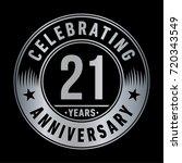 21 years anniversary logo.... | Shutterstock .eps vector #720343549