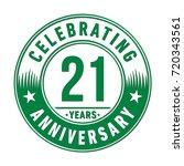 21 years anniversary logo.... | Shutterstock .eps vector #720343561