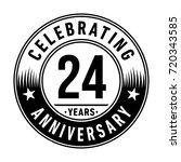 24 years anniversary logo.... | Shutterstock .eps vector #720343585