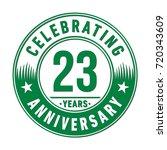 23 years anniversary logo.... | Shutterstock .eps vector #720343609