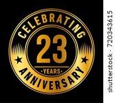 23 years anniversary logo.... | Shutterstock .eps vector #720343615