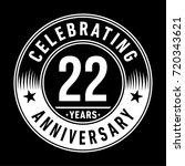 22 years anniversary logo.... | Shutterstock .eps vector #720343621