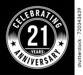 21 years anniversary logo.... | Shutterstock .eps vector #720343639