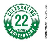 22 years anniversary logo.... | Shutterstock .eps vector #720343651