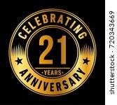 21 years anniversary logo.... | Shutterstock .eps vector #720343669