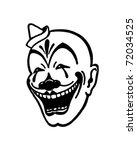 Clown Face   Retro Ad Art...