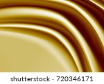 abstract gold fabric satin wave ... | Shutterstock .eps vector #720346171