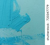 Small photo of Blue fade plastic color abstract painted on concrete wall for background texture backdrop