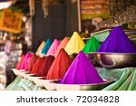 Bowls Of Vibrant Colored Dyes...