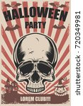 halloween party poster template.... | Shutterstock .eps vector #720349981