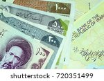 close up iranian banknote and... | Shutterstock . vector #720351499