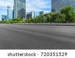 empty road and modern office... | Shutterstock . vector #720351529