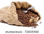 Coffee Beans Sack With...