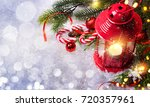 christmas and new year s... | Shutterstock . vector #720357961