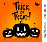 halloween card   trick or treat  | Shutterstock . vector #720358855
