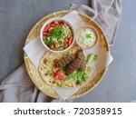 delicious homemade middle...   Shutterstock . vector #720358915