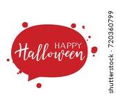happy halloween vector... | Shutterstock .eps vector #720360799