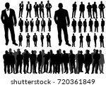 isolated silhouette of... | Shutterstock . vector #720361849