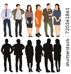 isolated  silhouette of people ... | Shutterstock . vector #720361861