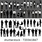 isolated  silhouette of people ... | Shutterstock . vector #720361867