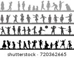 silhouette children collection | Shutterstock . vector #720362665