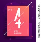 cool abstract numbers poster... | Shutterstock .eps vector #720365551