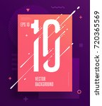 cool abstract numbers poster... | Shutterstock .eps vector #720365569